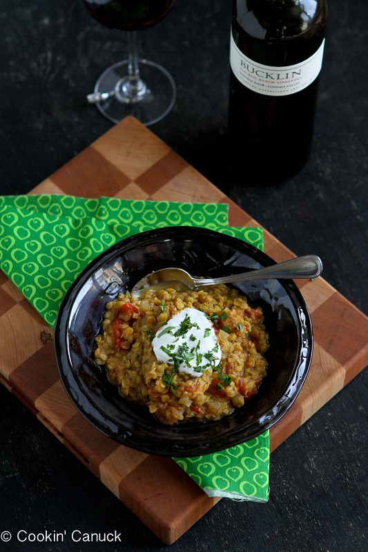 Curry Red Lentil Stew Recipe with Tomatoes #recipe #vegetarian #MeatlessMonday