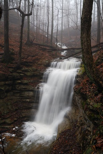 fog waterfall huntsville alabama scenic photograph monte samo