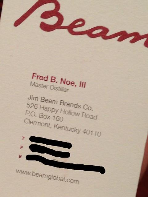 Noe's business card