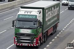 Volvo FH 6x2 Tractor - PX60 CRZ - Klarissa Paige - Eddie Stobart - M1 J10 Luton - Steven Gray - IMG_2189