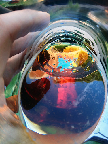 Spash of color in a beer glass, #1