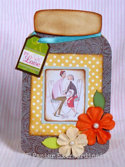 In Love Jar - Anniversary card