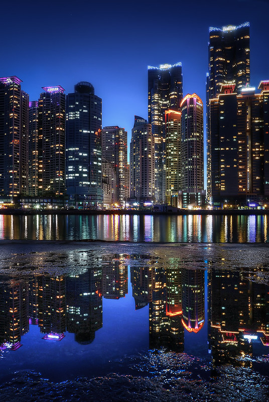 Marine City Reflection - Busan, South Korea