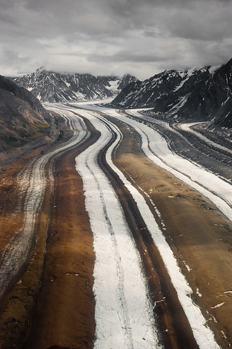 Medial Moraines of Barnard Glacier | by Wrangell-St. Elias National Park