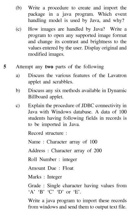 UPTU B.Tech Question Papers - TCS-403-Object Oriented Systems