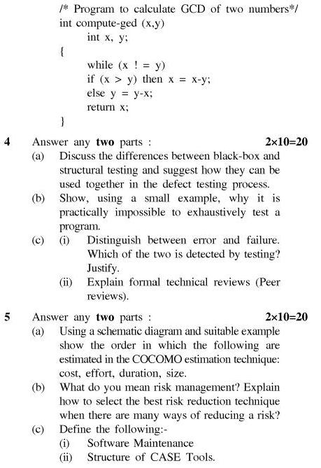 UPTU B.Tech Question Papers - TCS-404-Software Engineering