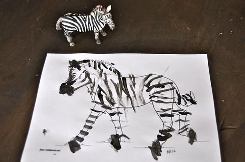 Paint Zebra Stripes Q-Tip