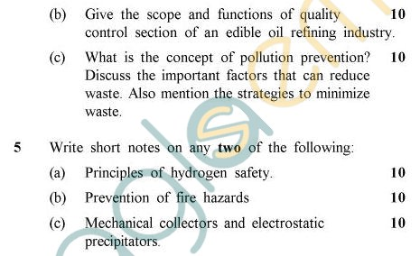 UPTU B.Tech Question Papers - OT-022 - Environmental Aspects In Oils & Allied Industries