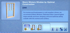 Warm Winters Window by Optimal construction