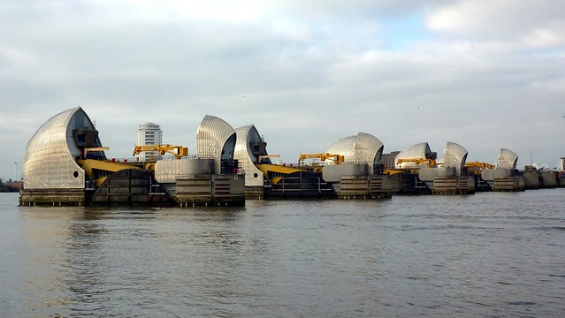 The mighty Thames Barrier