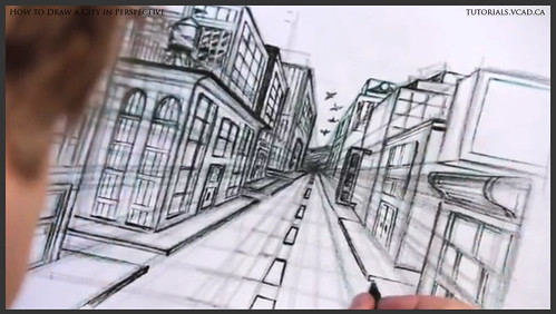 learn how to draw city buildings in perspective 035