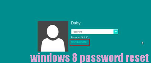 windows 8 password reset