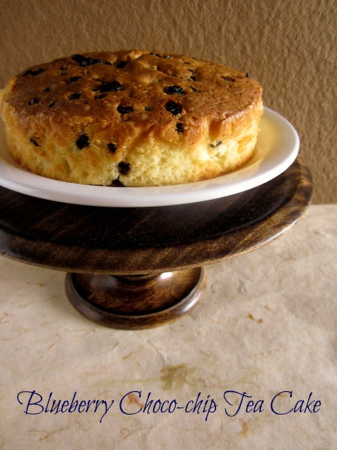 Blueberry Choco-chip Tea Cake