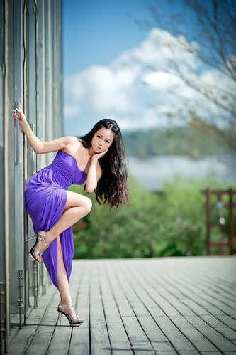 [フリー画像素材] 人物, 女性 - アジア, ワンピース・ドレス, 台湾人 ID:201303162200