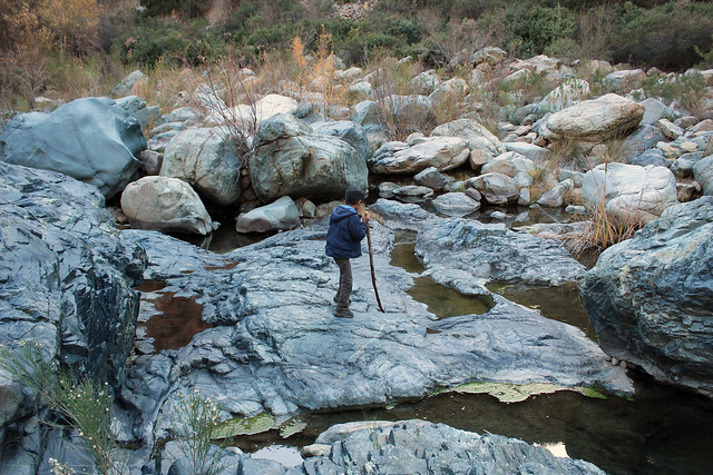hiking at the tijuana dam.