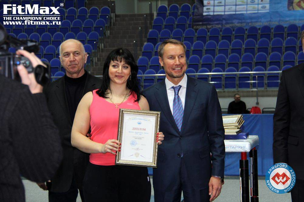 Irina Makeeva,  Alexander Filimonov - President of Russian Armsport Association (RAA)