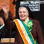 Grand Marshal Sister Mary Trinity Kenny - Missionary Franciscan Sisters of Teaneck, 2013 Bergen County St. Patrick`s Day Parade, Bergenfield, New Jersey