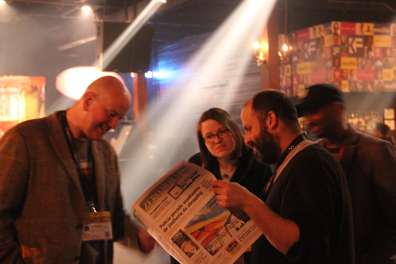 Paul Egglestone and Jon Rogers demo Newsprint