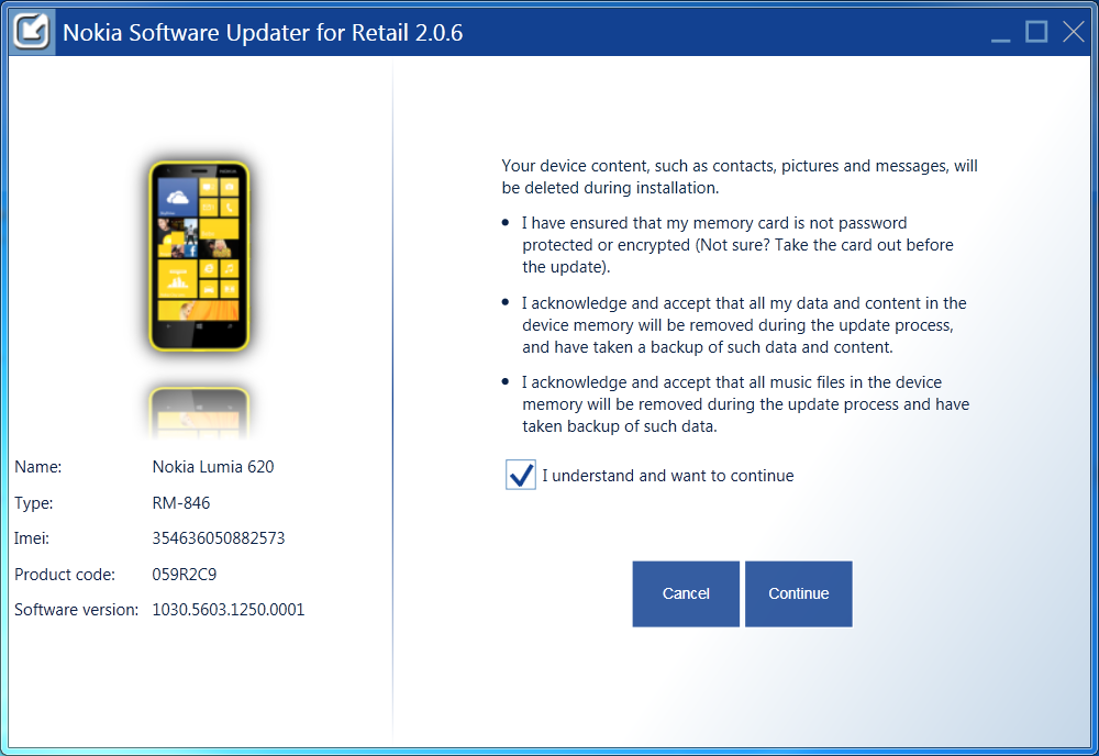 nokia software updater for retail 4.3.2