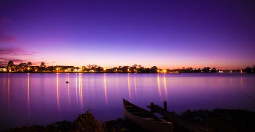 sunset sky lake reflection dawn evening lsu batonrouge