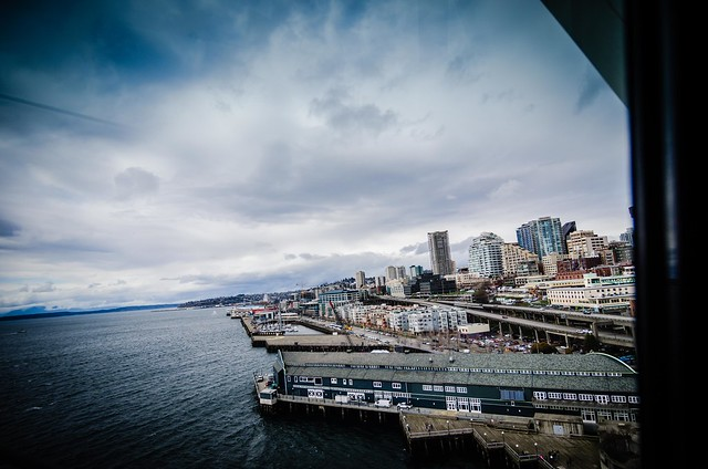 Seattle Waterfront from Great Wheel