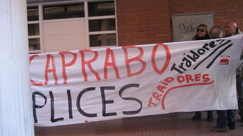 concentració cgt caprabo denuncia òmplices de l´empresa a UGT