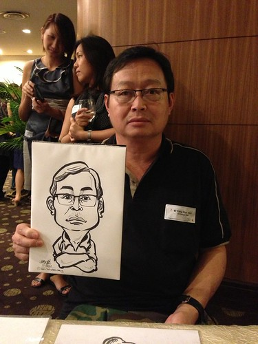 caricature live sketching for South West ComCare Local Network Anniversary Dinner cum ComCare Awards 2013 - m