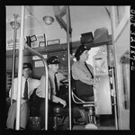 A Woman Trains on a DC Streetcar: 1943