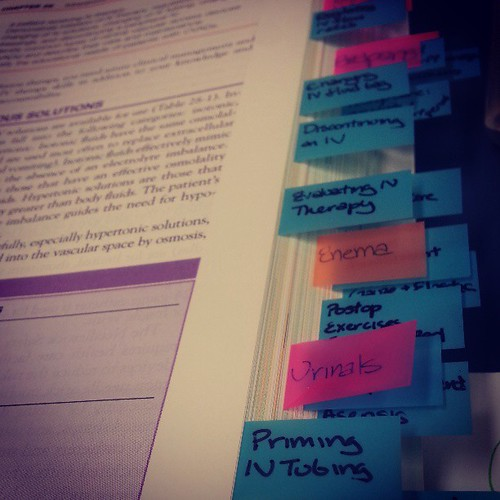 Studying! Midterm today :)