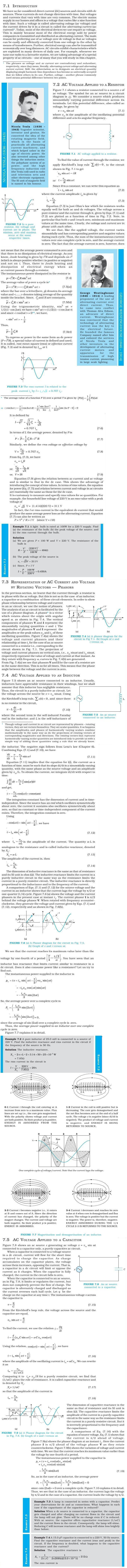 NCERT Class XII Physics Chapter 7 - Alternating Current