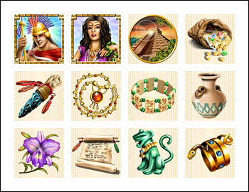 free Spirit of the Inca slot game symbols