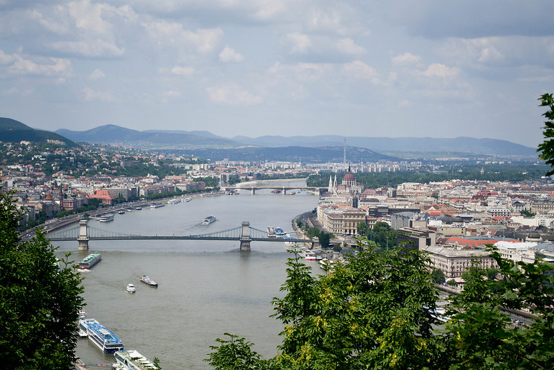 View from Gellert Hill, Budapest, Hungary