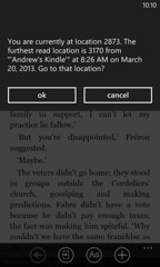 WP8 Kindle app sync problems