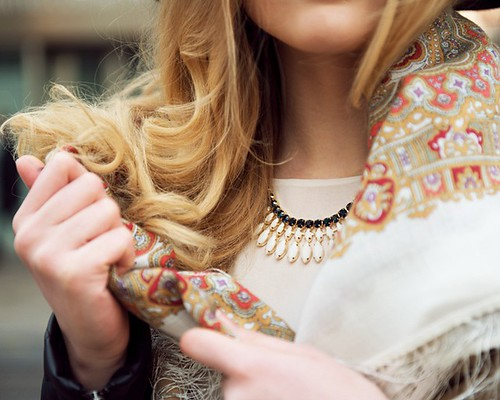 Russian scarf A LA RUSSE - Kristina Bazan (KAYTURE) by MagnifiqueLilly