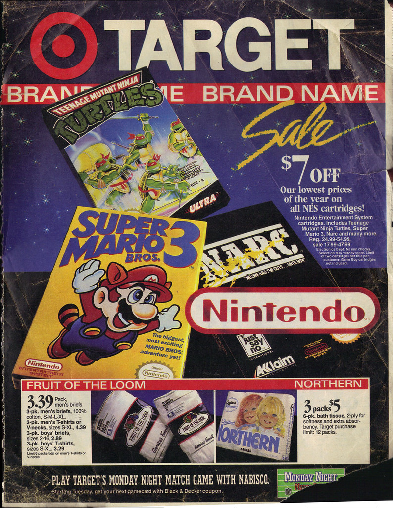 "TARGET :: ""BRAND NAME SALE"";  RANDOM Sunday Newspaper supplement .. pg.1 (( x xx,1990 )) by tOkKa"