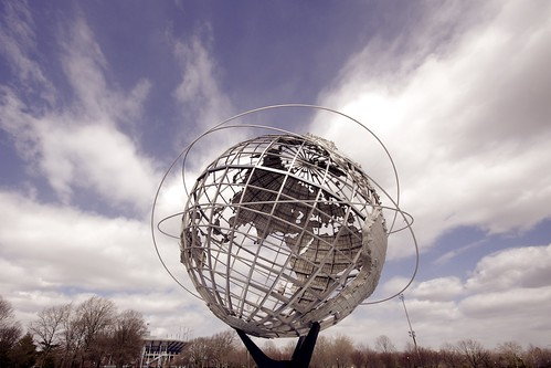 Unisphere Monument in Flushing Meadows Park in Queens