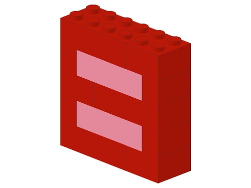 red-and-pink-equality by Bill Ward's Brickpile