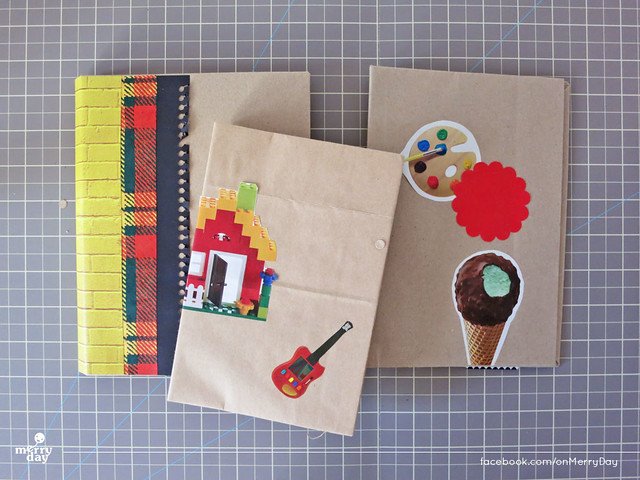 diy making book jacket from toothpaste boxes17