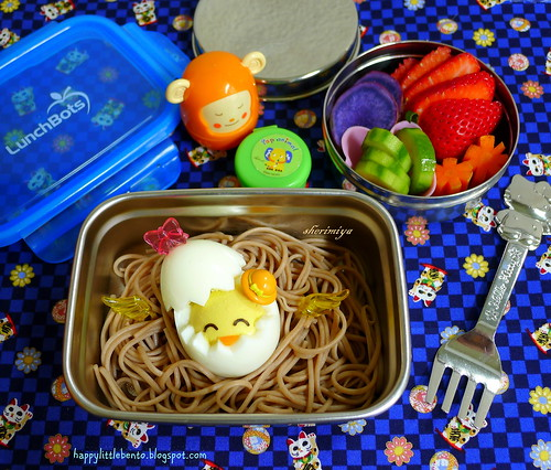 Easter Chick Soba Bento by sherimiya ♥