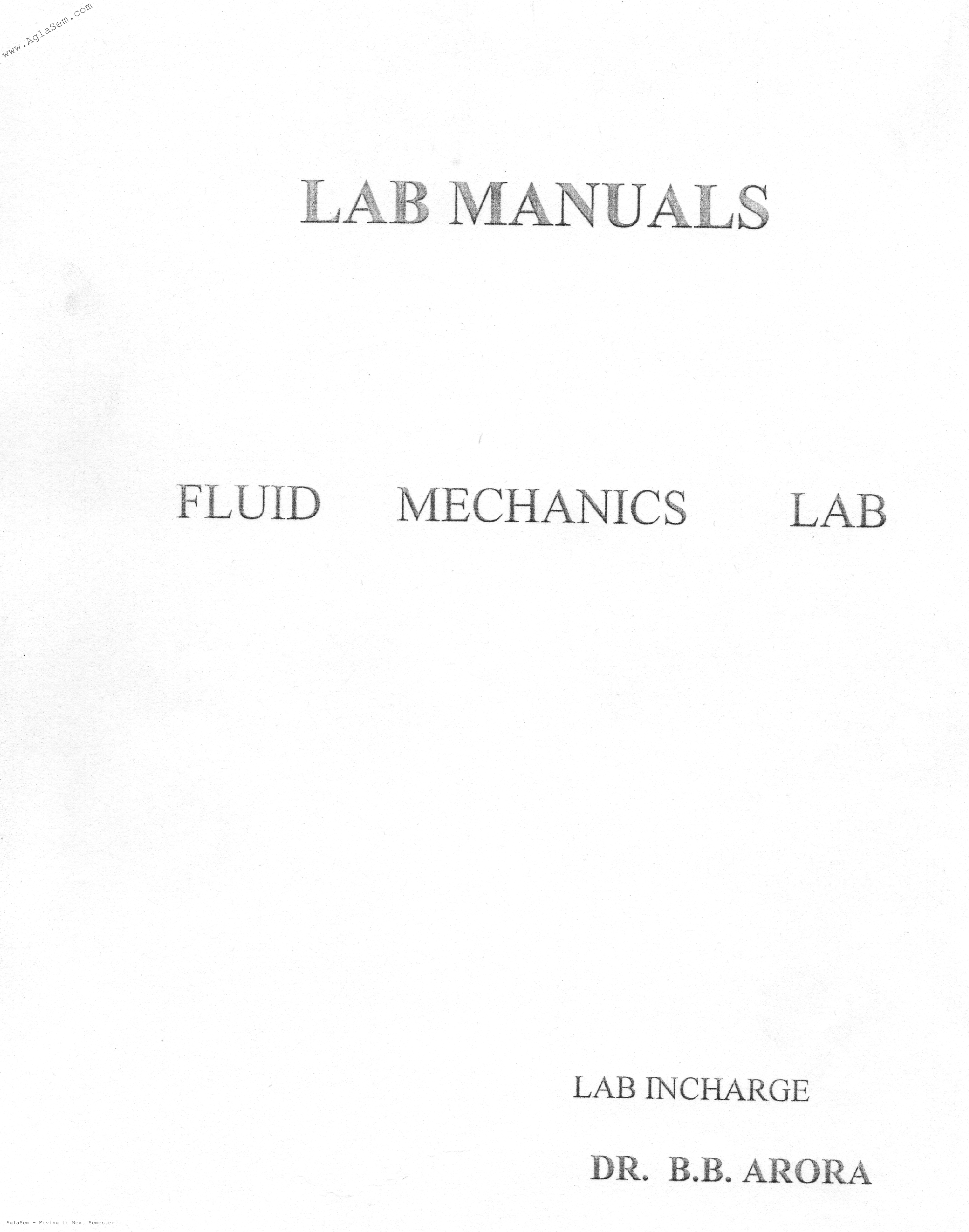 DTU Practical Files - 4 Sem - Fluid Machanics