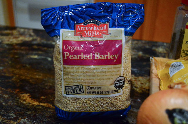 A bag of pearled barley.