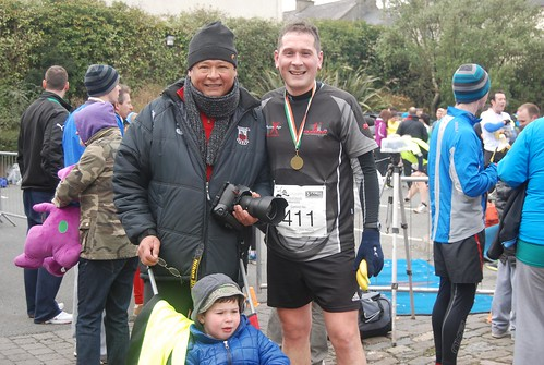 Rafa, Miguel and Daniel at the finish line of the Wicklow Half Marathon