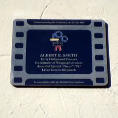 Photo of Albert E. Smith film cell plaque
