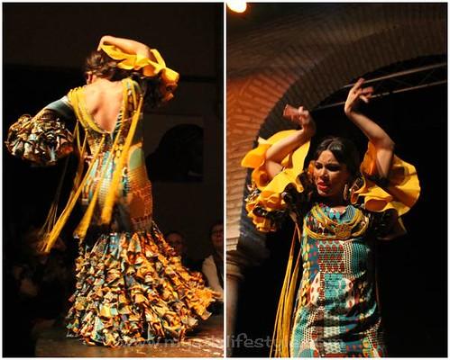 bailaora, traje flamenca patchword