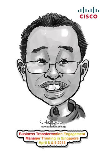 digital caricature for Cisco - 7
