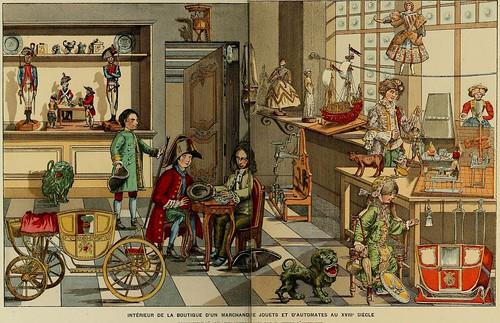 004-Interior de una tieda de juguetes en el siglo XVIII-Histoire des jouets….1902- Henry René d' Allemagne