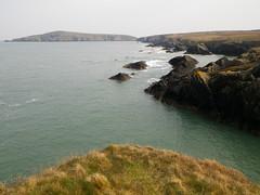 On the rocks beyond Gwbert...