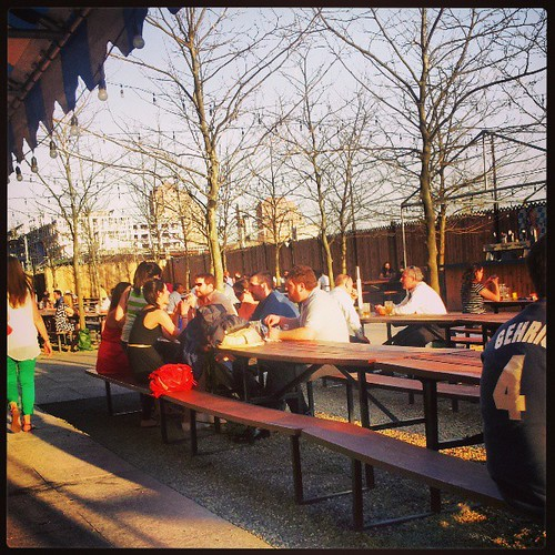 Biergarten kinda people #jerseycity #nj #sunshine #beer