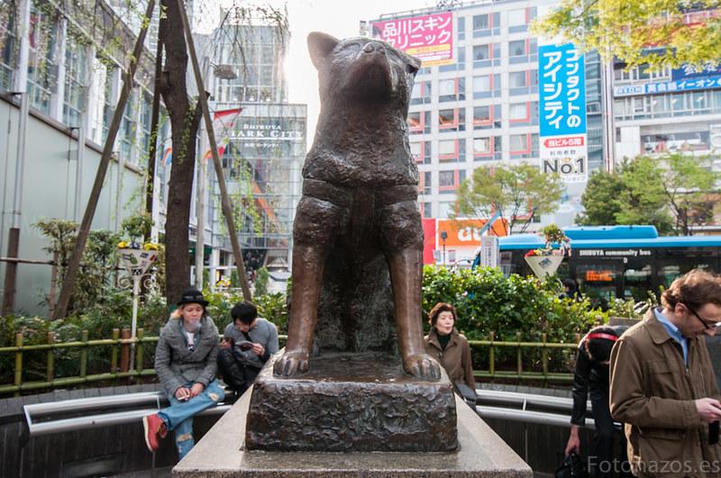 La estatua de Hachiko en Shibuya, el perro más famoso de Japón