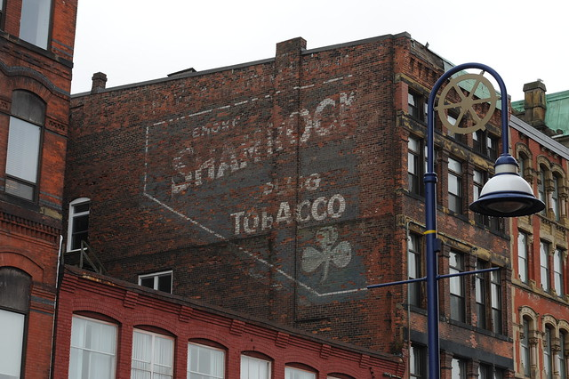 Shamrock Plug Tobacco ghost sign, Saint John, N.B.